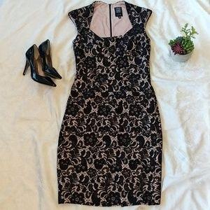 Jax black lace cocktail dress sz 6